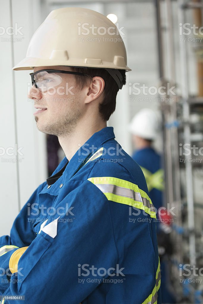 Industrial Worker At Industry Site royalty-free stock photo