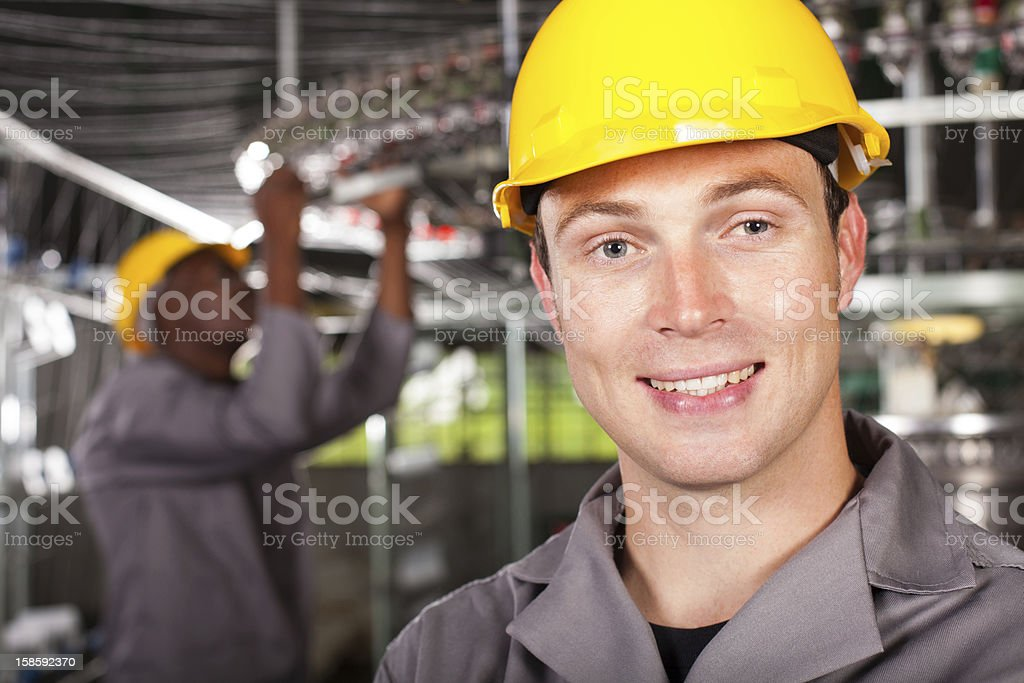 industrial worker closeup royalty-free stock photo