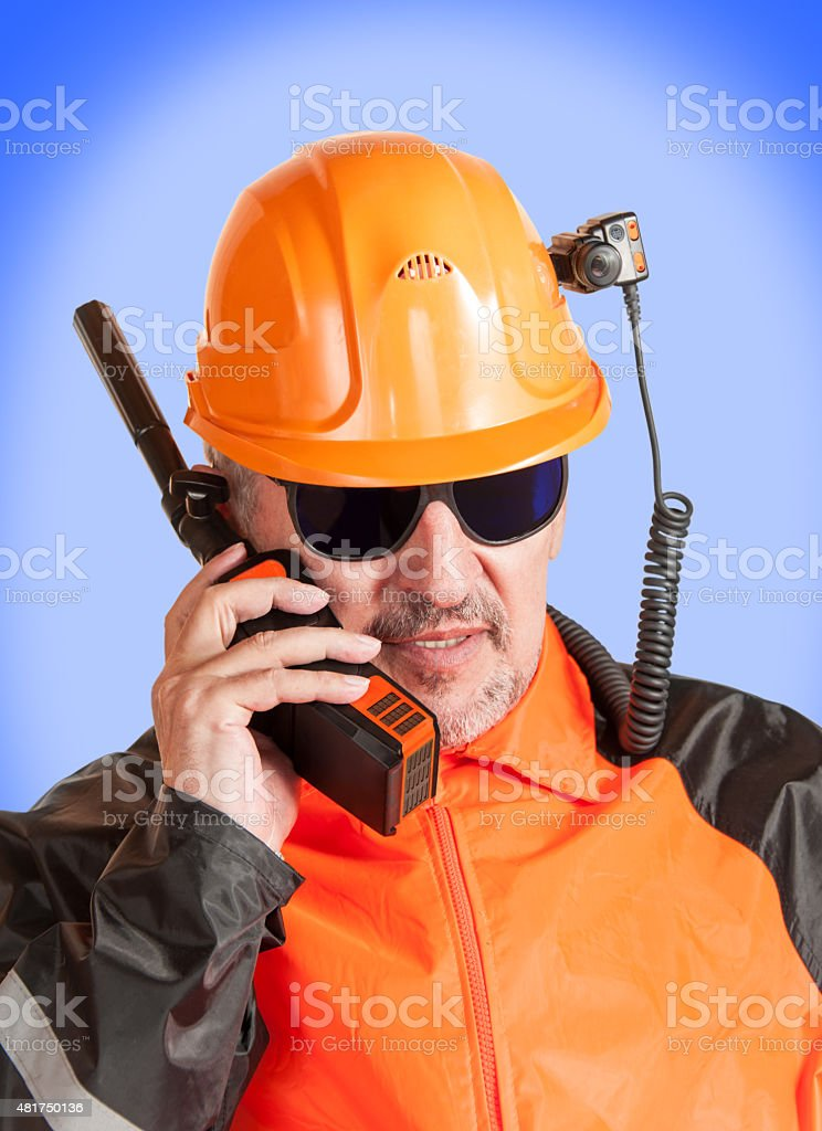 Industrial worker. stock photo