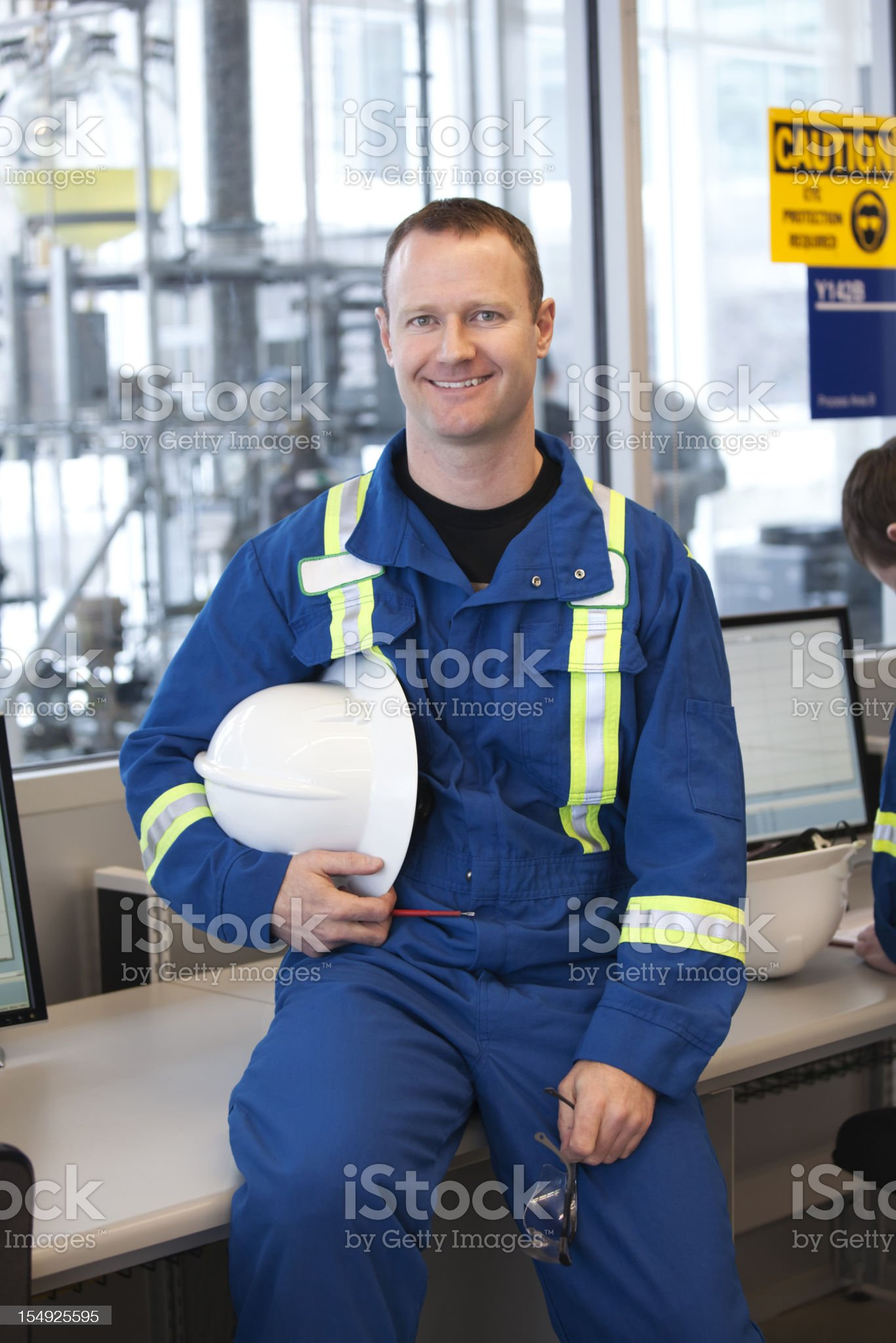 Industrial Worker with Equipment royalty-free stock photo