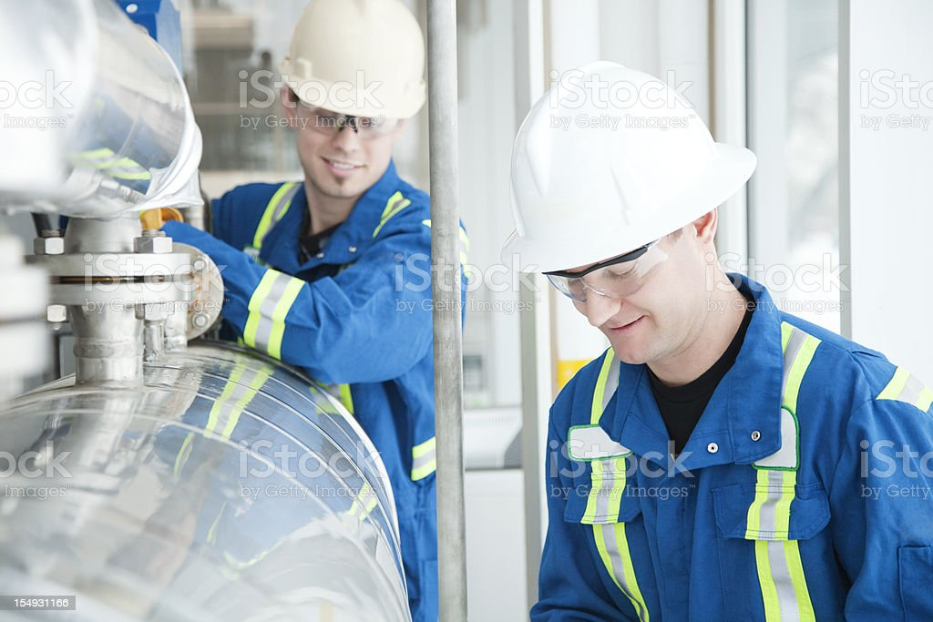 Industrial Workers stock photo