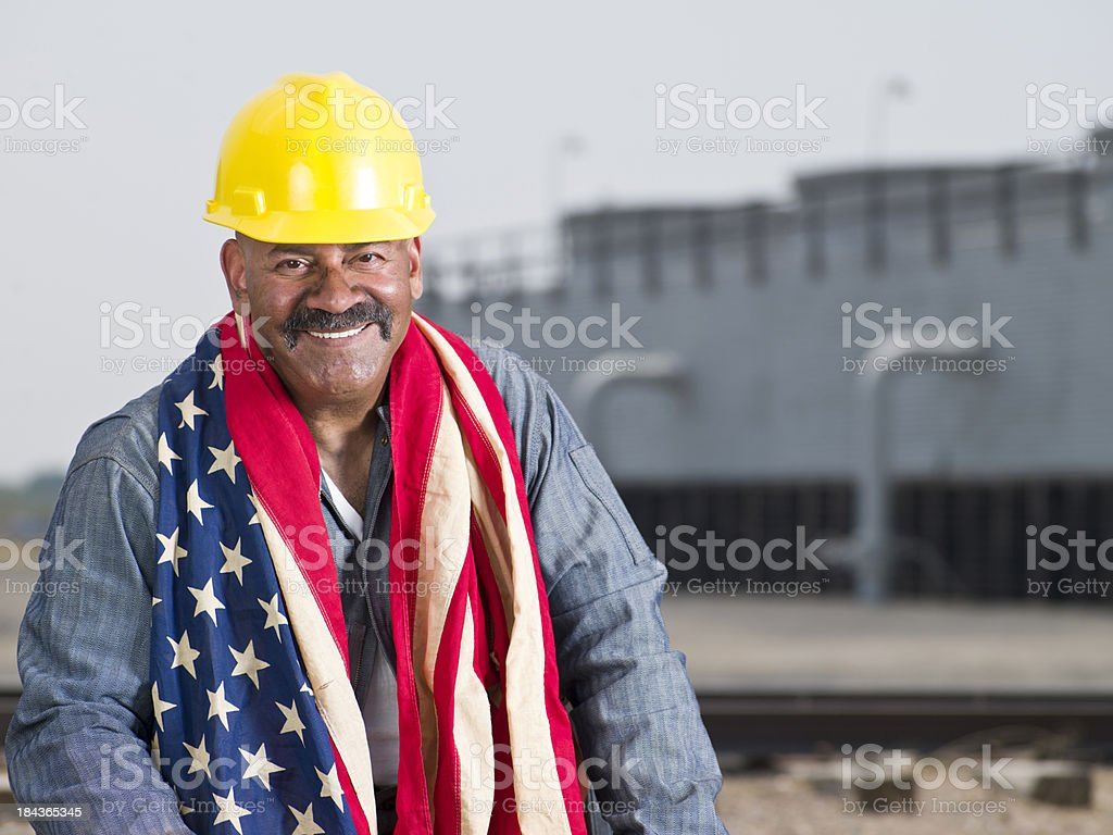 Industrial workman royalty-free stock photo