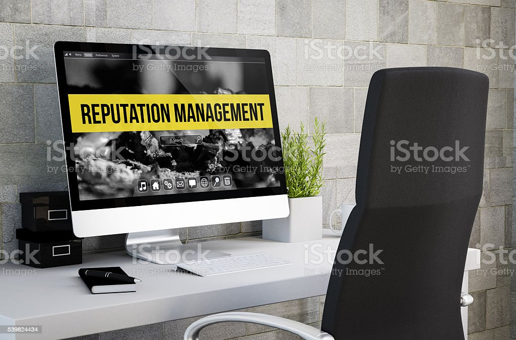 industrial workspace reputation management stock photo