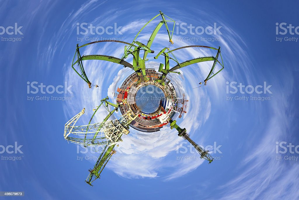Industrial World stock photo
