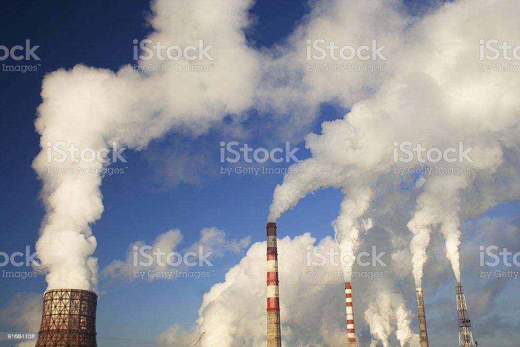 Industrial zone stock photo