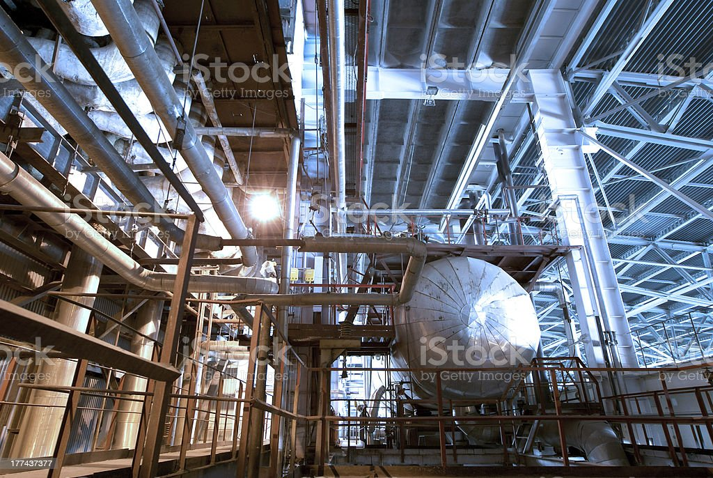 Industrial zone, Steel structures royalty-free stock photo