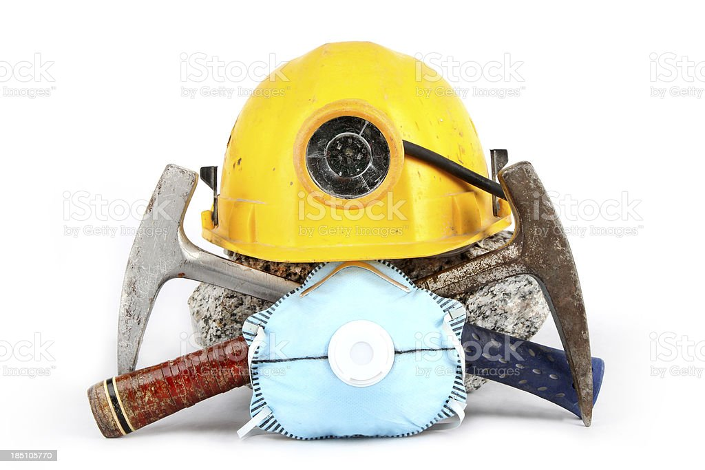 Industrial/geological safety gear royalty-free stock photo