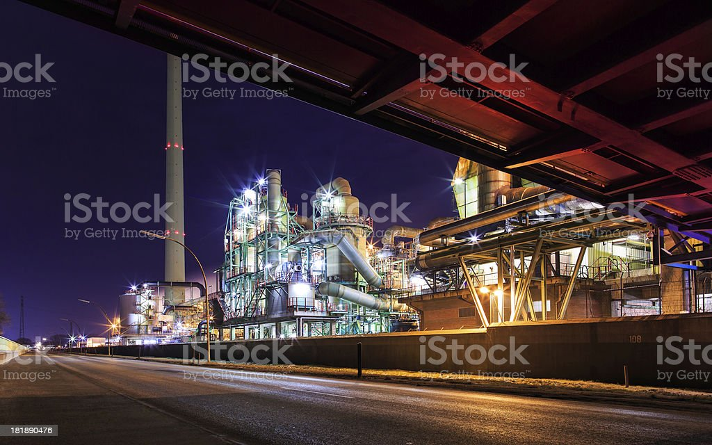 Industrie at twilight stock photo