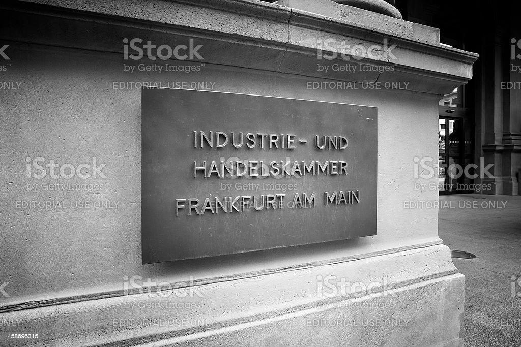 Industrie- und Handelskammer Frankfurt stock photo