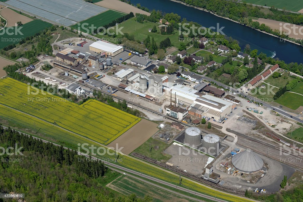 Industriegebiet stock photo