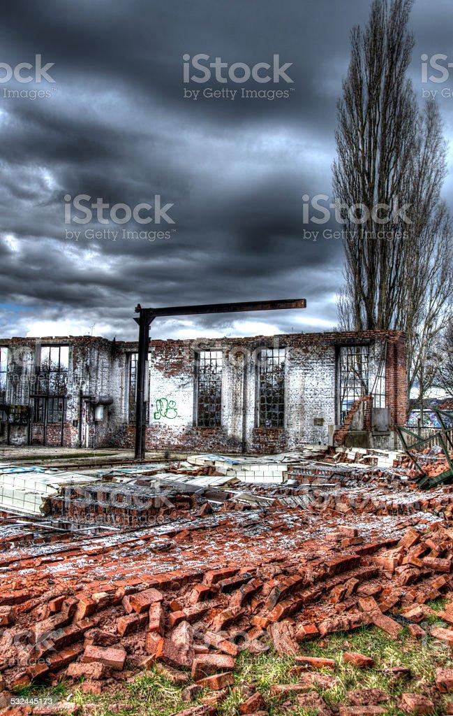 Industrieruine stock photo