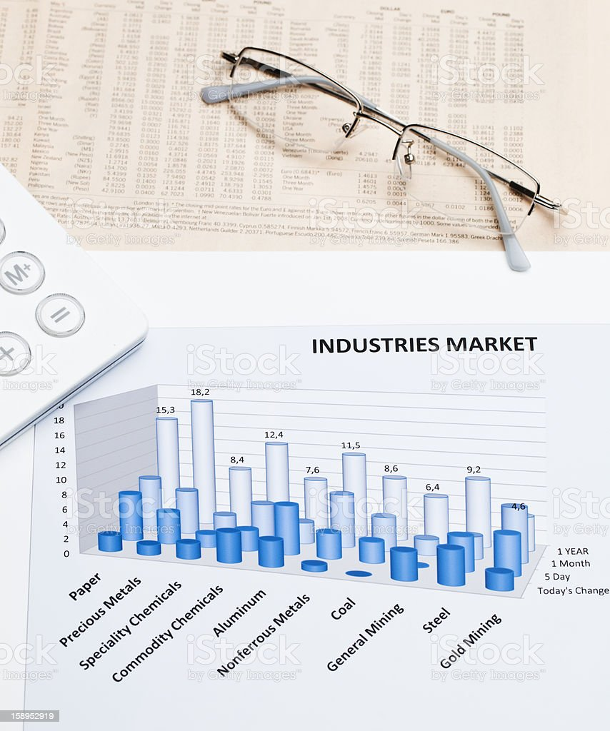 Industries market royalty-free stock photo