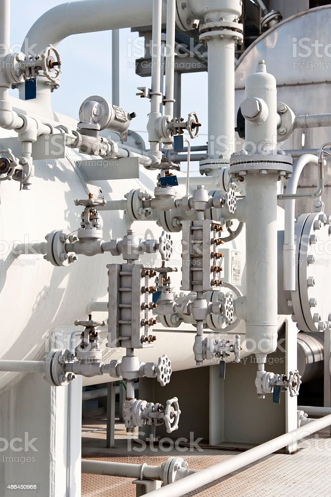 Industries of oil refining and gas stock photo