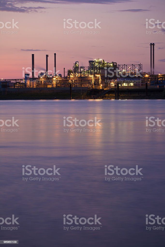 Industry along Rhine River royalty-free stock photo