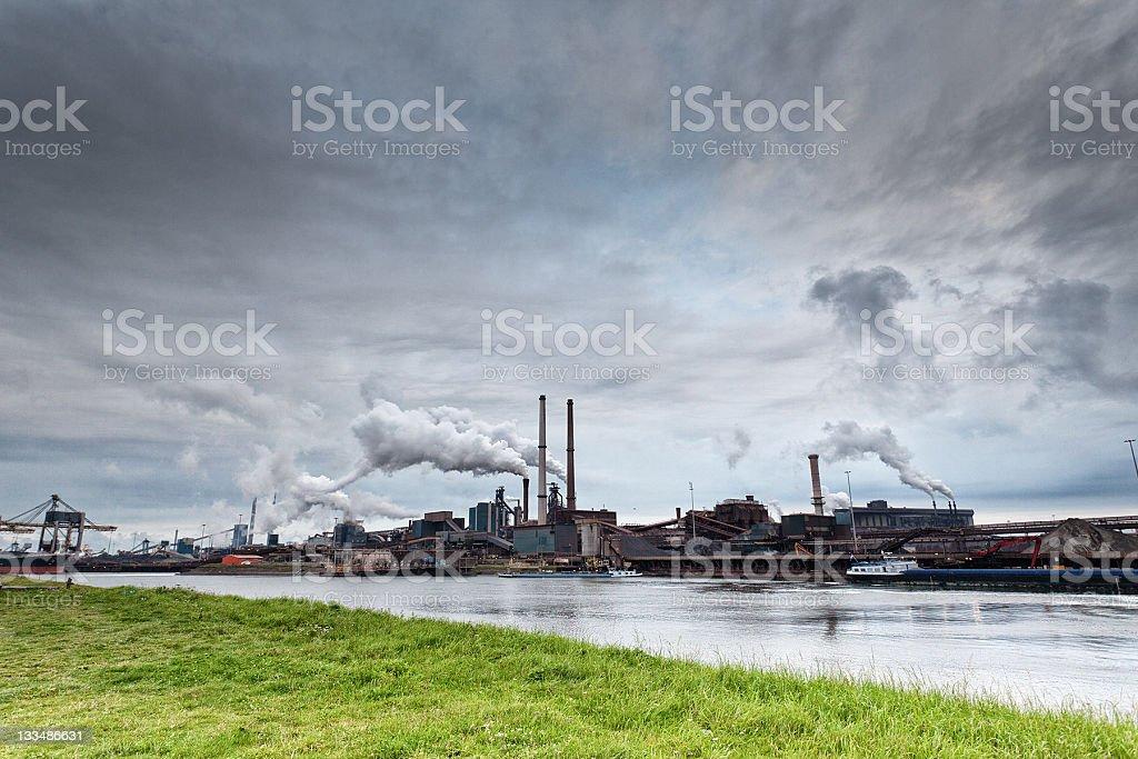Industry Area, Factory in IJmuiden, The Netherlands stock photo