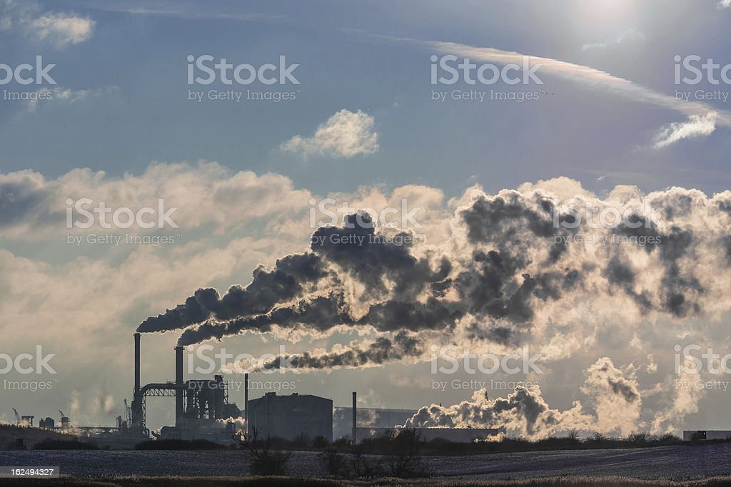 Industry area royalty-free stock photo