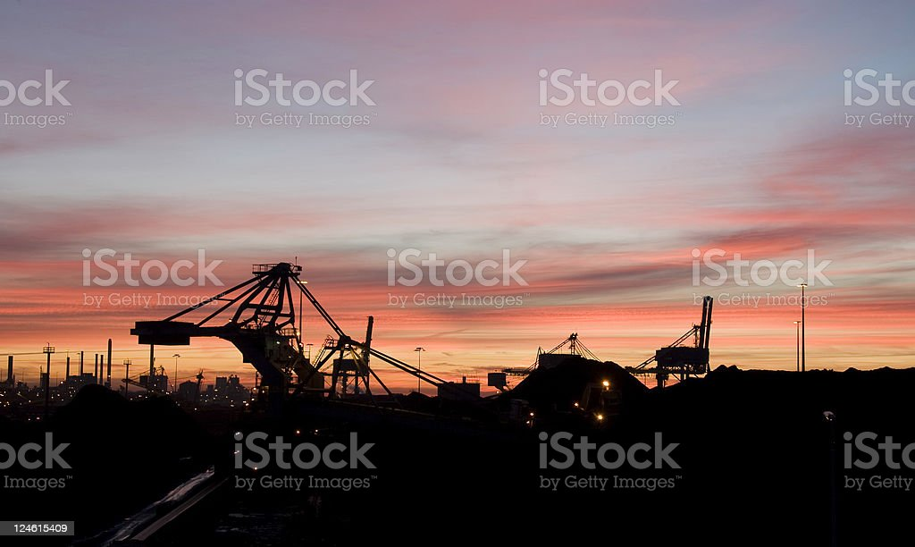 industry at dawn royalty-free stock photo