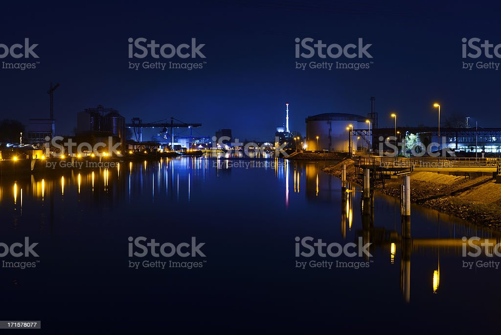 industry at harbor royalty-free stock photo