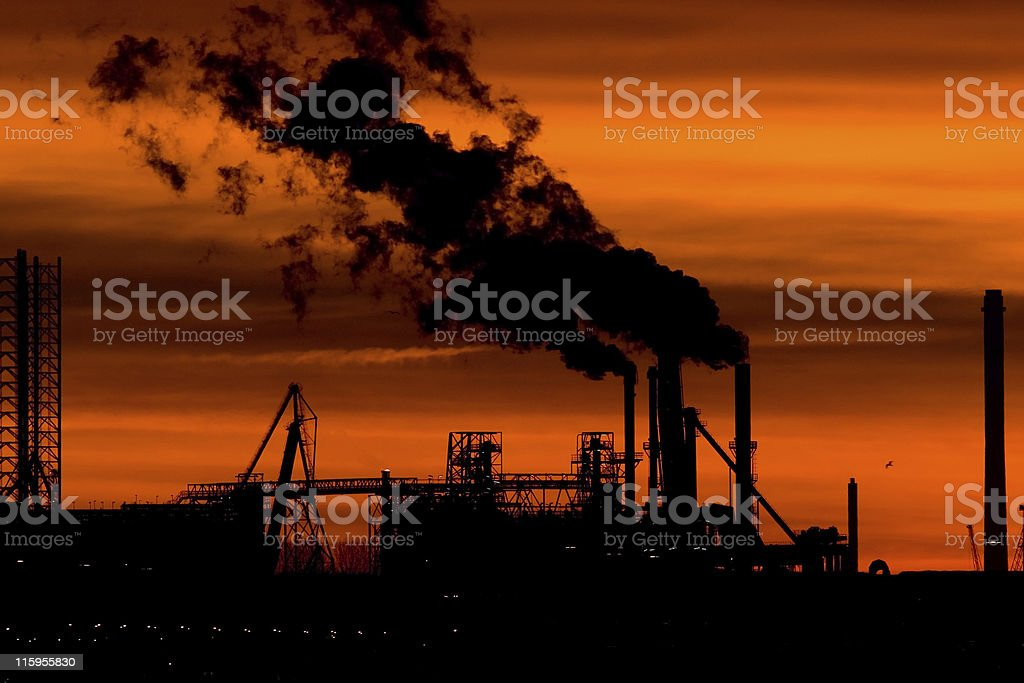 Industry at sunrise royalty-free stock photo