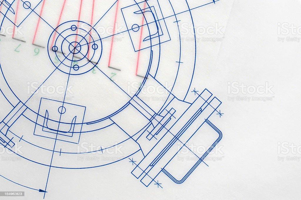 Industry Blueprint stock photo