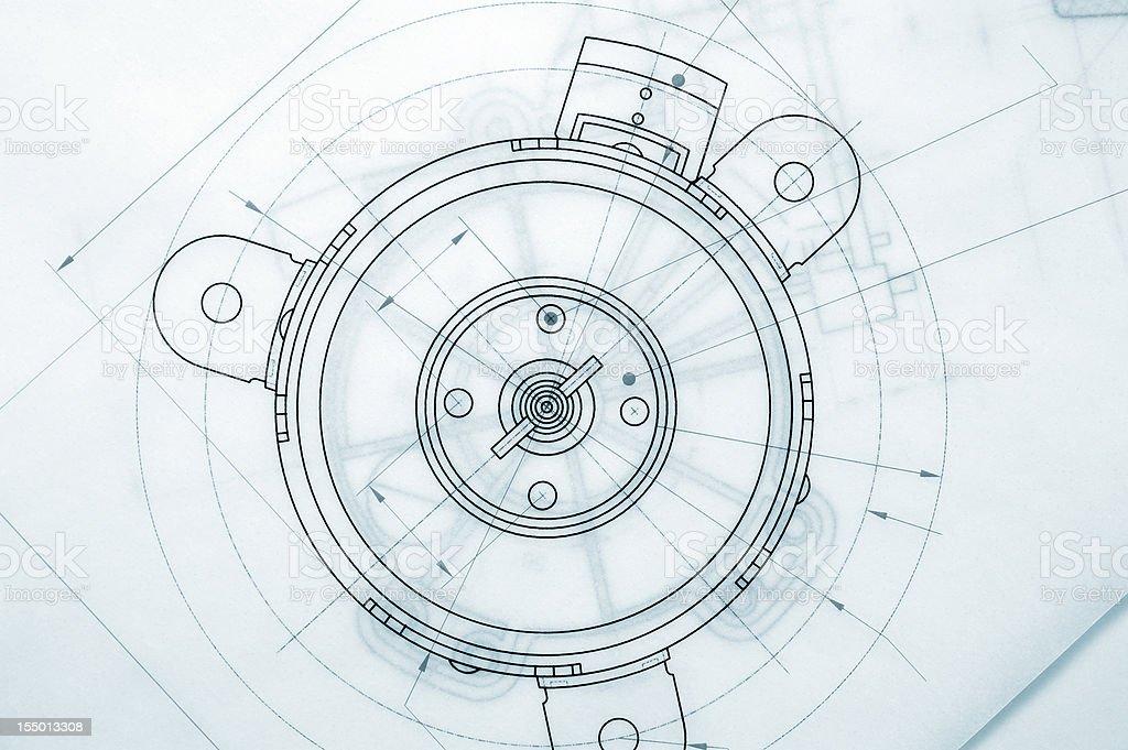 Industry blueprint royalty-free stock photo