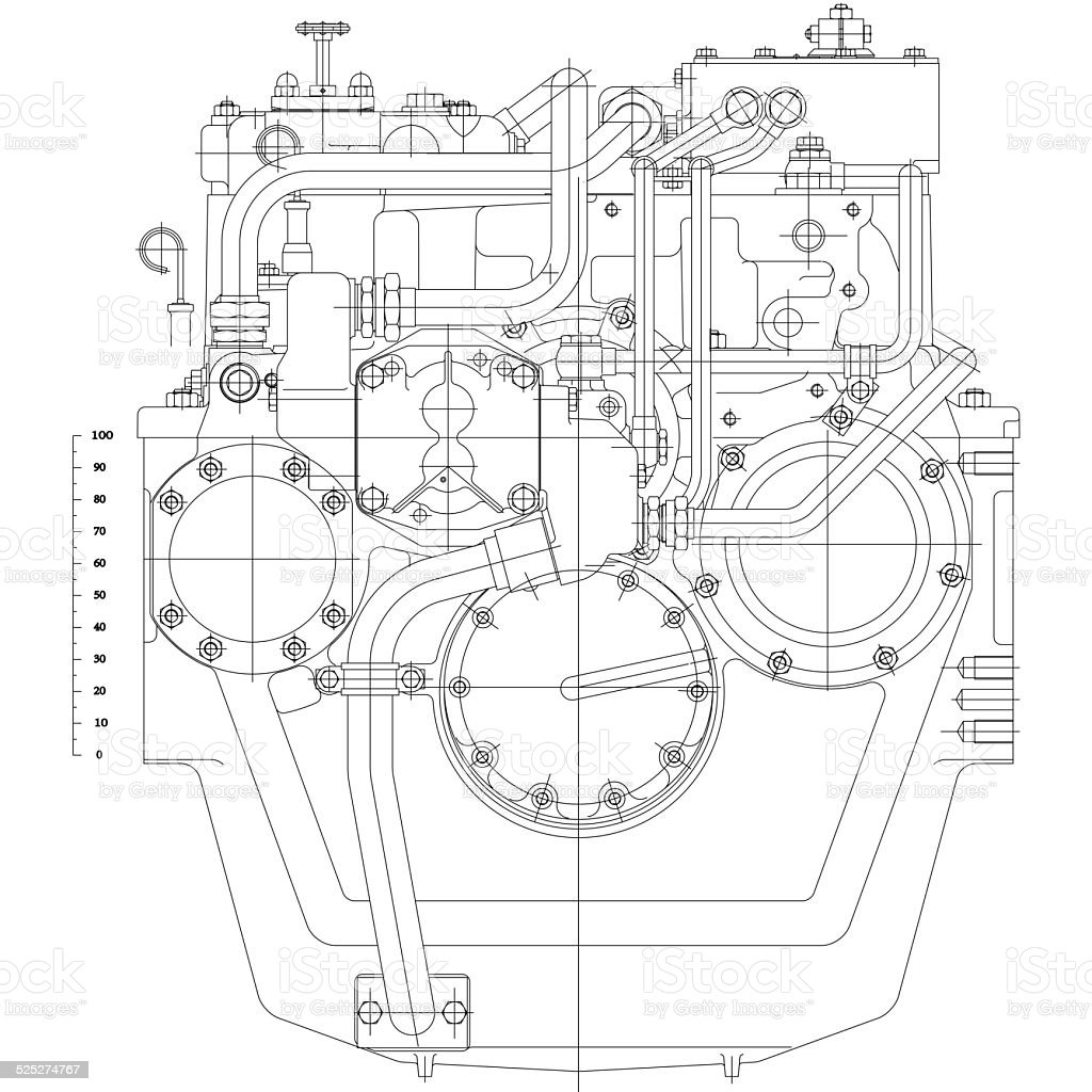 industry  blueprint vector art illustration