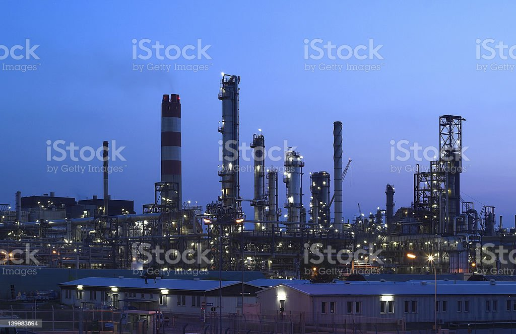 Industry by Night royalty-free stock photo