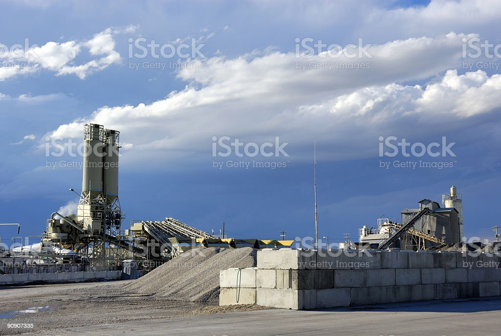 Industry - Concrete Plant royalty-free stock photo