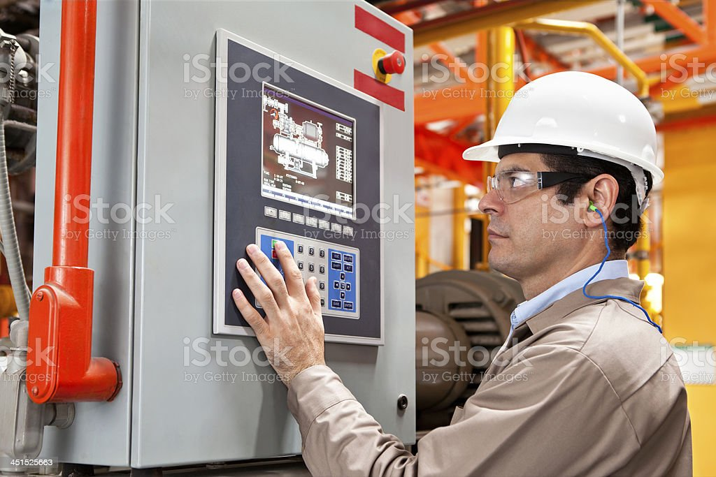 Industry Control stock photo