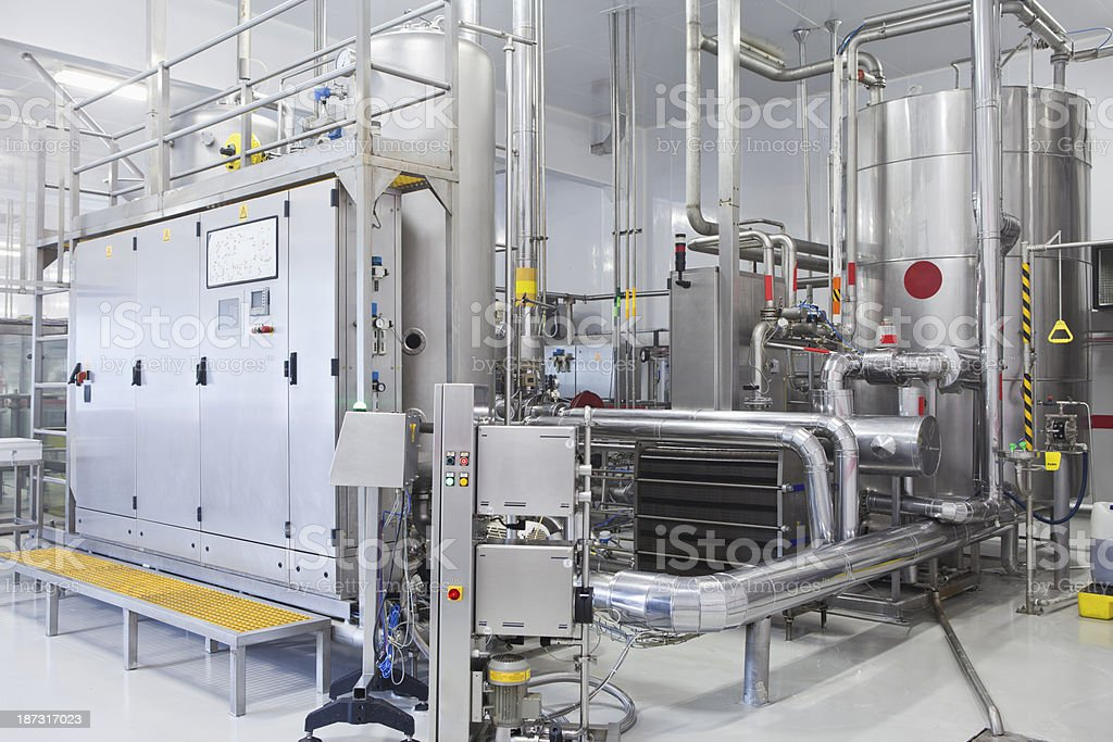 Industry Control Room stock photo