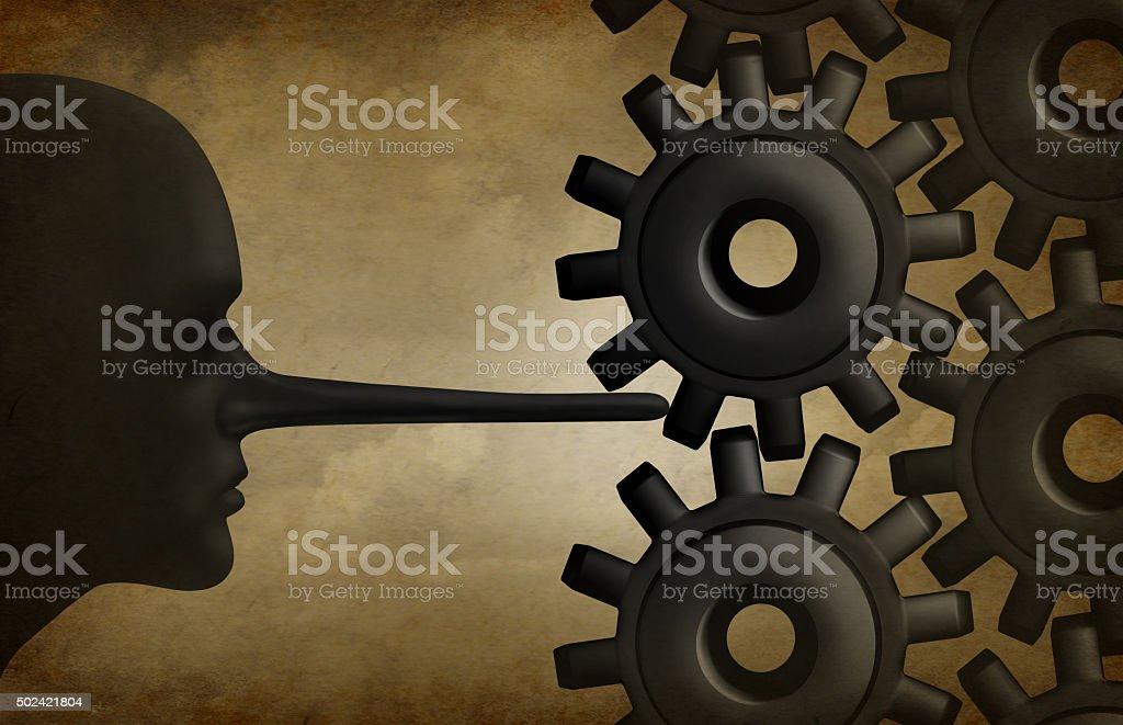 Industry Corruption stock photo