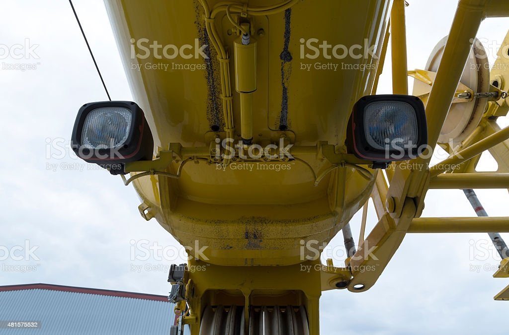 Industry crane from under royalty-free stock photo
