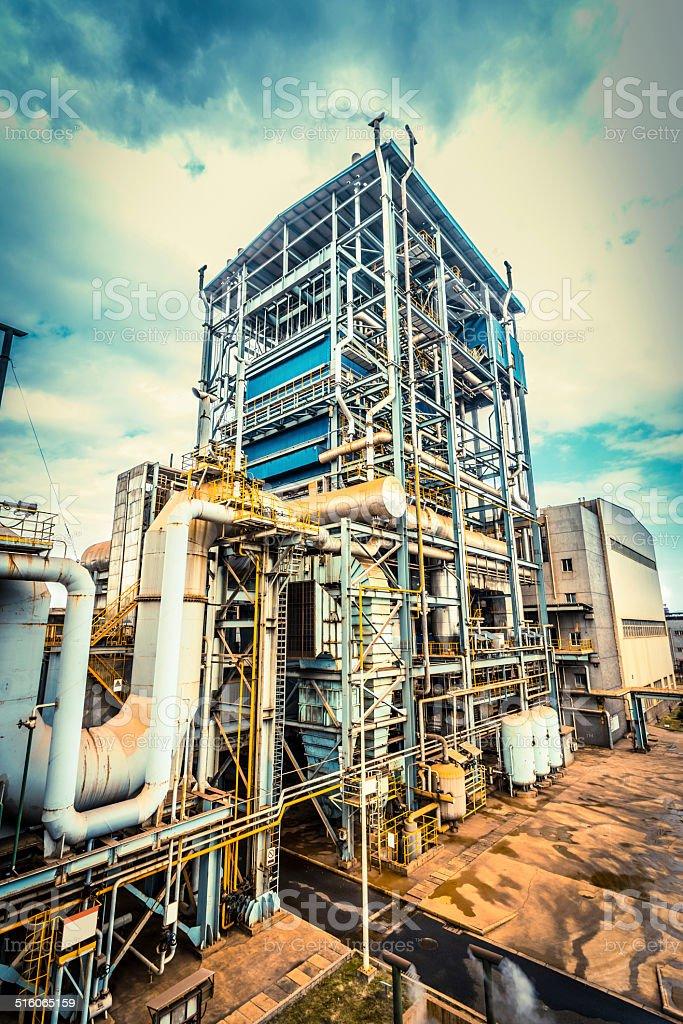 industry equipment installation stock photo