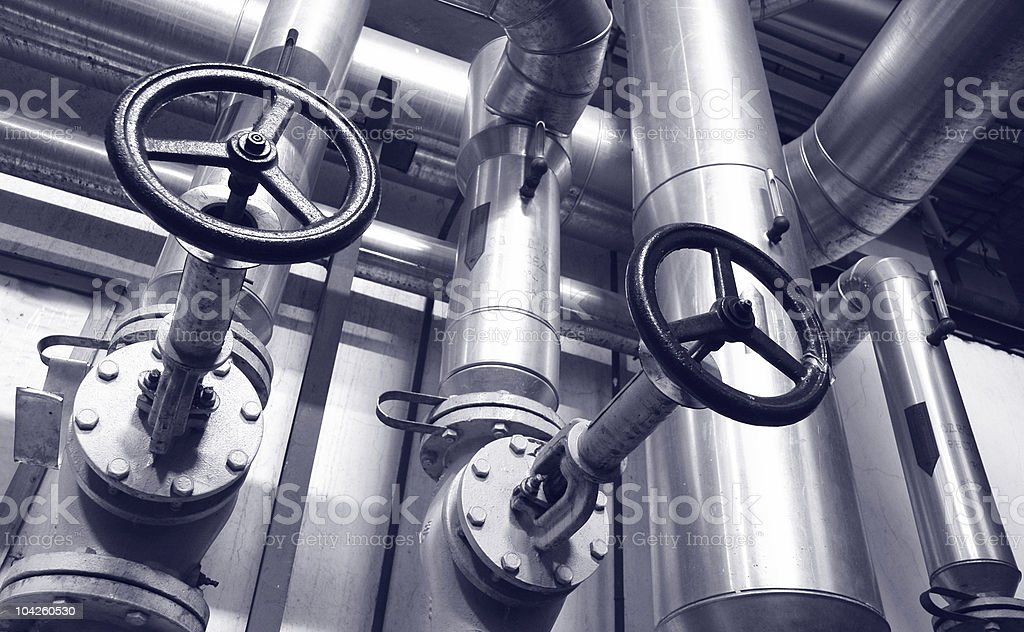 industry gas and oil pipes stock photo