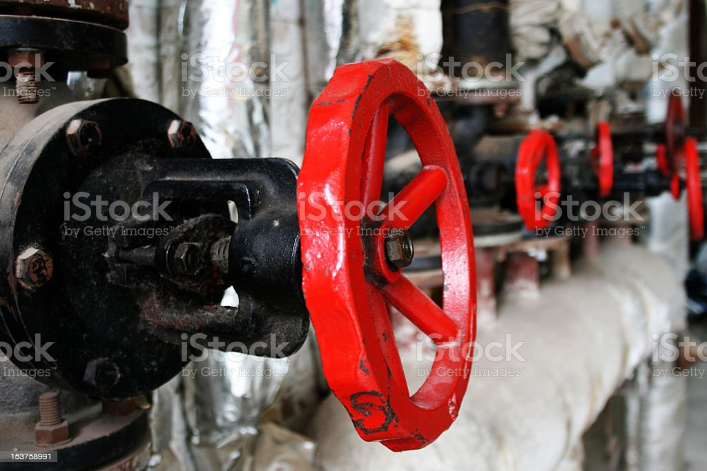 Valvola gas industriali foto stock royalty-free