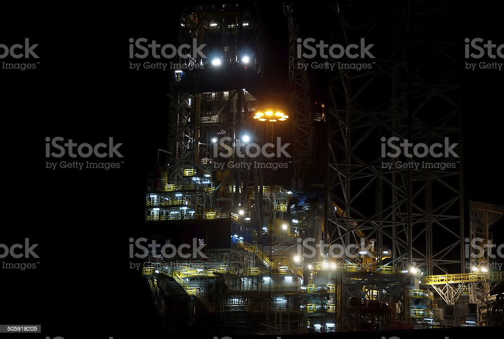 Industry image at night stock photo