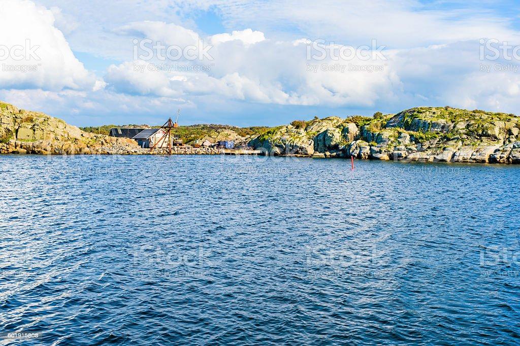 Industry in archipelago stock photo