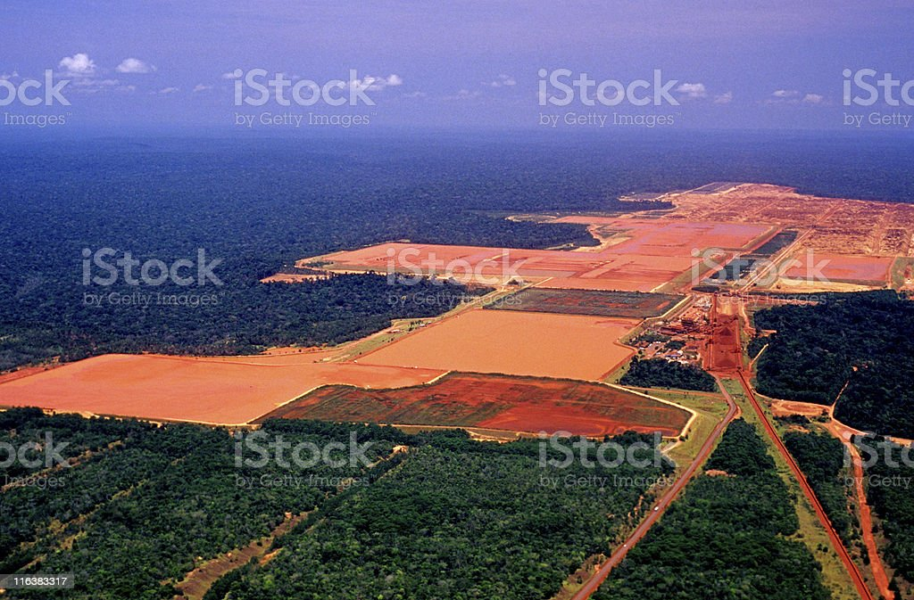 Industry in the Amazon stock photo