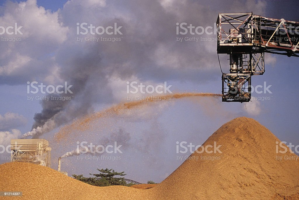 Industry in the Amazon royalty-free stock photo