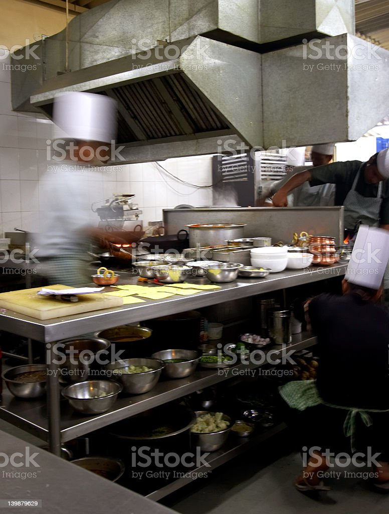 Industry kitchen with motion blur royalty-free stock photo