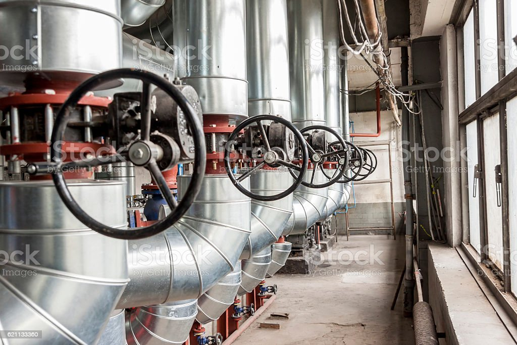 Industry manual safety valve stock photo