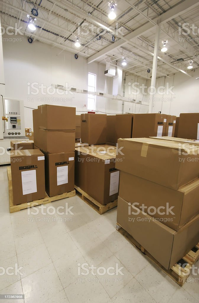 Industry Package Expedition Department royalty-free stock photo