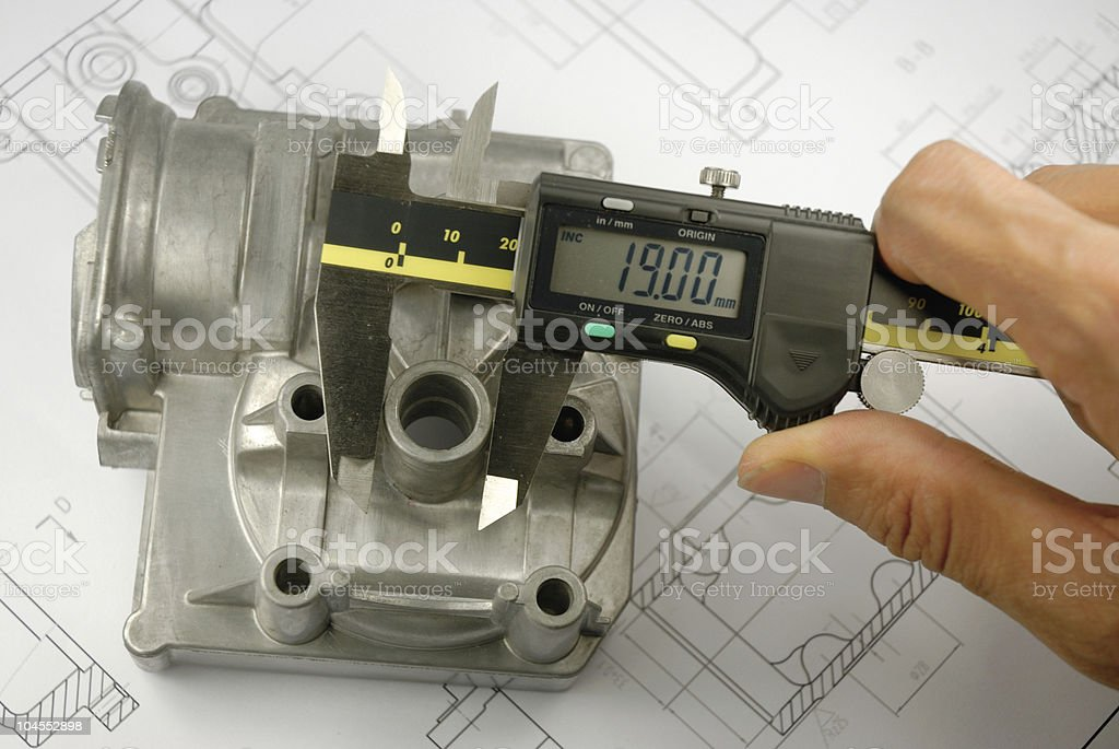 Industry part measurement royalty-free stock photo