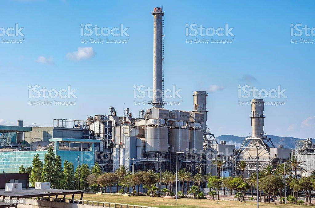 Industry plant in Barcelona stock photo