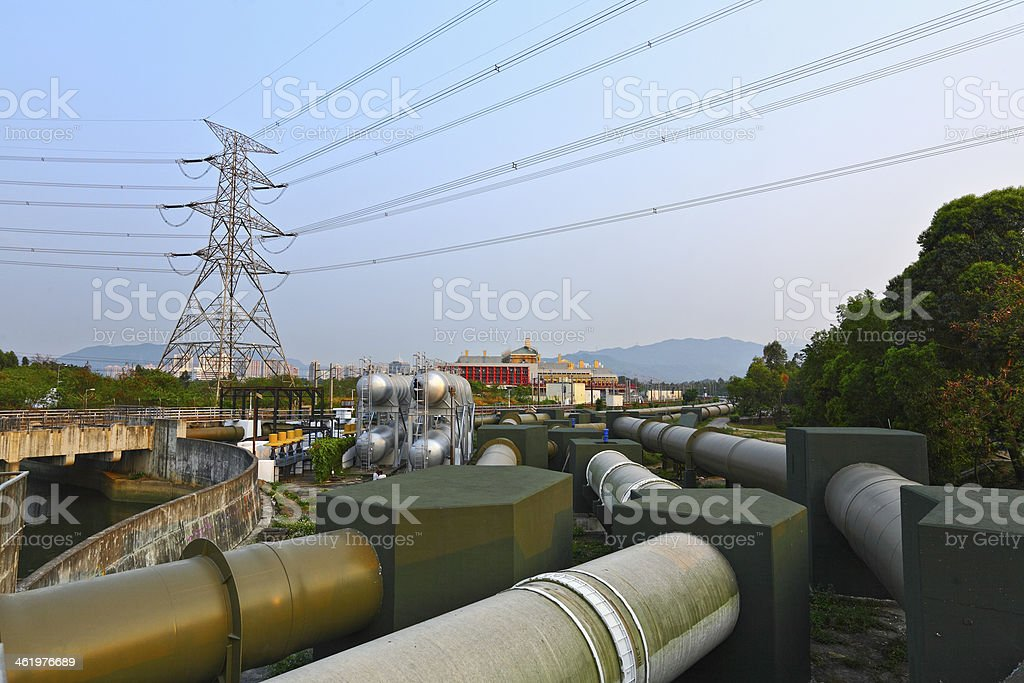 industry scene, pipe line royalty-free stock photo