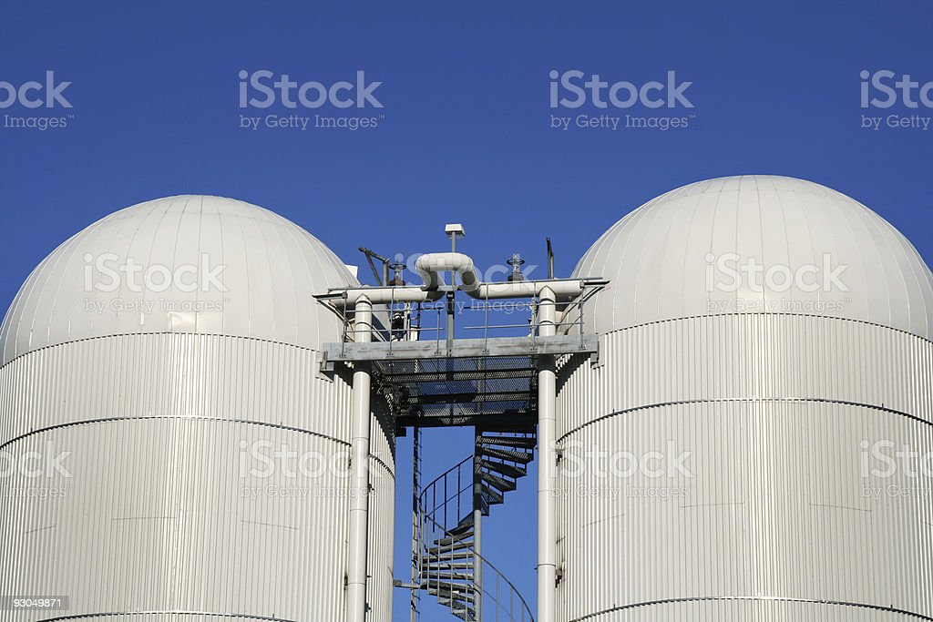 Industry silos royalty-free stock photo