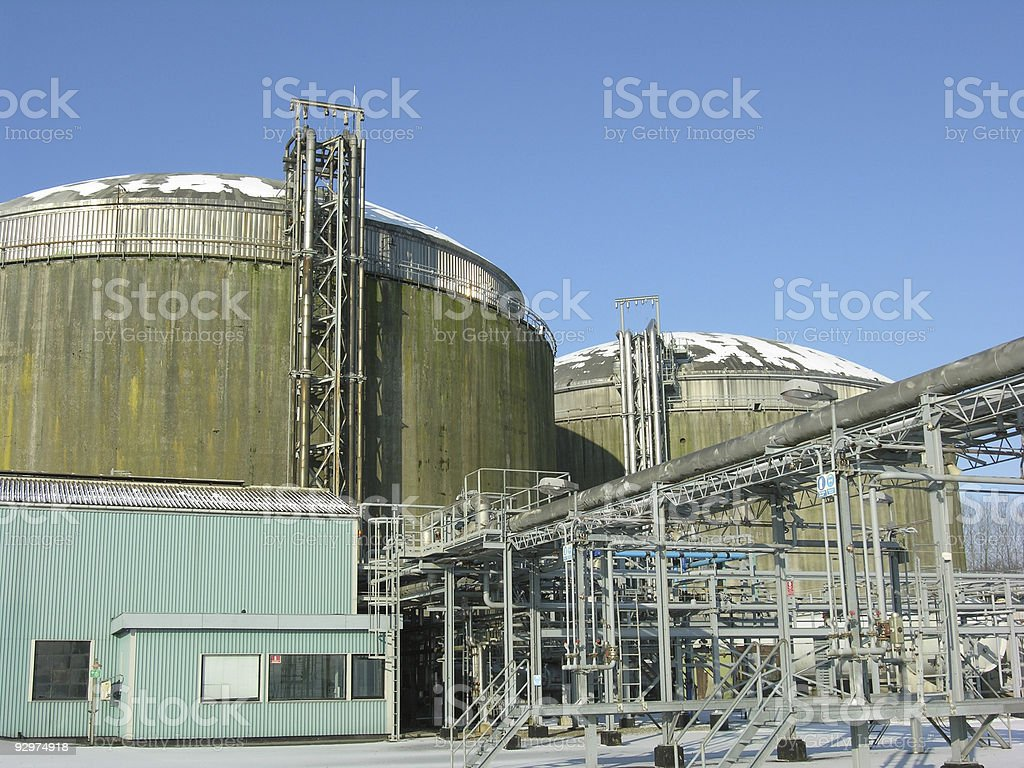 Industry Sky Blue royalty-free stock photo