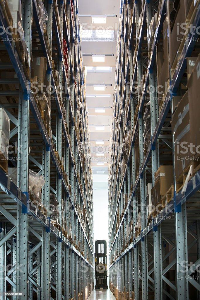 Industry Storehouse Forklift stock photo