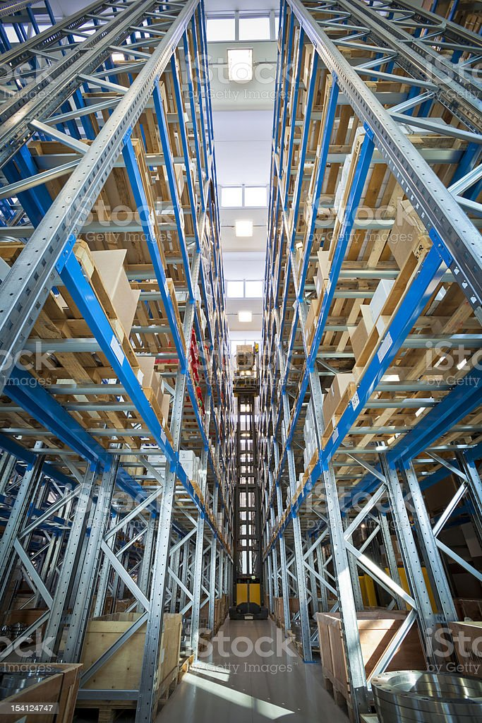 Industry Storehouse Forklift royalty-free stock photo