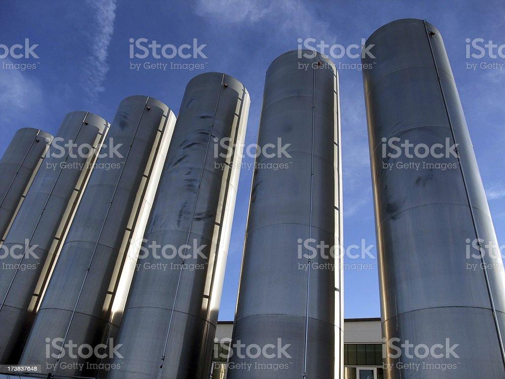 industry tanks royalty-free stock photo